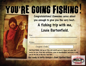 fishing gift certificate